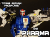 Pharma Faceplate (Titans Return Compatible) 3d printed Hand painted frosted ultra detail