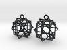 Cube square earrings 3d printed