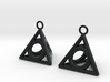 Pyramid triangle earrings serie 3 type 4 3d printed