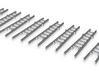 Steckleiter Teil B Alu Set ohne Sprossenlöcher 3d printed