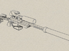Heavy Laser Sniper with accessories (28mm) 3d printed