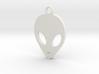 Grey Alien Key Ring 3d printed