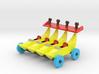 Quadruple Banana Car 3d printed