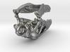 Deinonychus Dinosaur Skull Pendant 3d printed