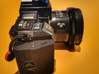 Minolta 7000 - Lipo battery holder 3d printed Completed and mounted on camera