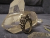 Crystal Ring size 9 3d printed Stainless Steel