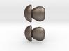 Penny Bun Mushroom Cufflinks 3d printed