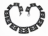 Art Deco Statement Necklace 3d printed Trellis Statement Necklace