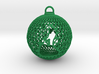 3D Printed Block Island Ball Ornament 3d printed