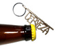 Cerveza Keychain Bottle Opener 3d printed Stainless Steel comes out Golden