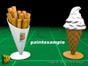 8 ICE & FRIES display stand (1:87) 3d printed ICE & FRIES display stands - paint example