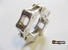 Violetta L. - Bicycle Chain Ring 3d printed Polished Silver  ( printed in US 9 )