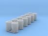 SET 6x Dzkr 501 Behälter (TT 1:120) 3d printed