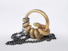 Reverse Snake Ring 3d printed Raw Brass