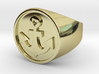 Anchor Band S. -  Signet Ring 3d printed Anchor US 7.5