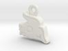 Aztec Rabbit Pendant 3d printed