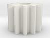 Cylindrical gear M1 Z12 Alfa20 Beta0 b10 HoleØ5 K2 3d printed