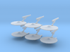 1/7000 Destroyer Akula v2 - 06 ships pack 3d printed