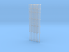 'N Scale' - (4)-30' Caged Ladder - Caged to Top 3d printed