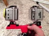Dual GoPro Quick Release Mount 3d printed