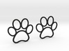 Paw Print Earrings - Large 3d printed
