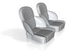 1/16 50s Sport Seat Pair 3d printed