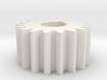 Cylindrical gear Mn=1 Z=18 AP20° Beta0° b=10 HoleØ 3d printed
