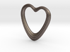 Oblong Heart Pendant 3d printed