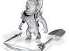 Chibi Orc 001 3d printed