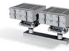 1:350 Scale Mk 25 BMPDS Sea Sparrow Launchers (2x) 3d printed