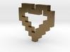 Pixel Heart Pendant 3d printed