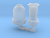 N Scale NSWR Std Goods Funnel & Steam Dome 3d printed