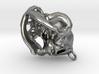 Pug Dog Skull Pendant  3d printed