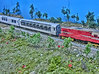 Kiwirail AKC Class NZ120 (1:120) 3d printed Printed in FUD, middle carriage is the AKC