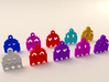 Pac Man Ghost 8-bit Earring 2 (looks left) 3d printed