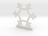 Customizable Gingerbread Man Snowflake Ornament 3d printed