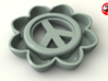 Peace Sign Flower 3d printed