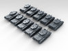 1/400 scale British Cromwell Tank (10) 3d printed Render showing product detail