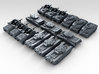 1:400 Scale WW2 British Tank Set (15) 3d printed 3d render showing product detail