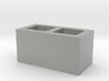 Concrete Cinder Blocl Brick 1.10 40X20mm 3d printed