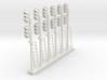Block Signal Double 3 Light LH (Qty 6) - HO 87:1 3d printed