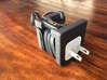 Pebble Charger Adapter 3d printed Black Strong & Flexible with USB Charger and Pebble Charging Cord