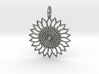 Sunflower Pendant 3d printed Sunflower Pendant in Silver is spectacular.