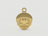 Smiling Child - head - Design for pendant/earring  3d printed Gold preview