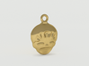 Smiling Child - head - Design for pendant/earring  3d printed Gold preview 2