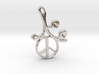 Earthly Spring Peace Sign by ~M. 3d printed