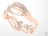 Art Nouveau Ring #1 3d printed Rose Gold