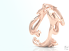 Calla Lilies Ring 3d printed Rose Gold