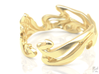 Calla Lilies Ring 3d printed Gold
