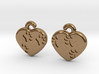 Pawprints On My Heart Earrings 3d printed